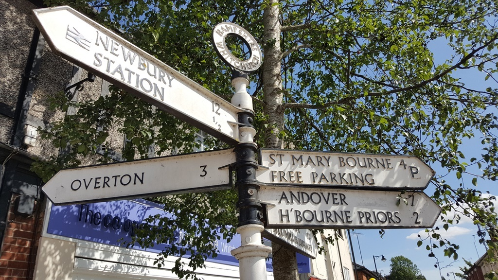 Fingerpost in Summer, Whitchurch
