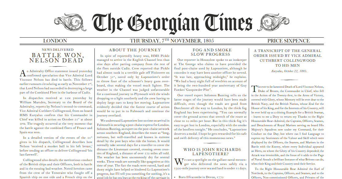 Georgian Times exerpt